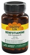 Country Life - Benfotiamine with Coenzyme B1 150 mg. - 60 Vegetarian Capsules - $11.99