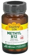 Country Life - Methyl B12 Cherry Flavor 5000 mcg. - 60 Lozenges - $14.39