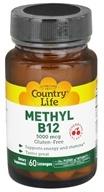 Country Life - Methyl B12 Cherry Flavor 5000 mcg. - 60 Lozenges by Country Life
