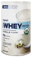 BioChem by Country Life - Organic 100% Whey Protein Powder Vanilla Flavor - 12.7 oz.