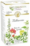 Celebration Herbals - Organic Caffeine Bilberries Herbal Tea - 24 Tea Bags