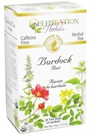 Celebration Herbals - Organic Caffeine Free Burdock Root Herbal Tea - 24 Tea Bags