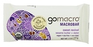 GoMacro - MacroBar Sweet Revival Sesame Butter & Dates - 2 oz., from category: Health Foods