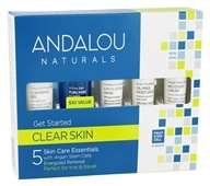 Image of Andalou Naturals - Get Started Kit Clarifying For Active & Oily Skin - 5 Piece(s)