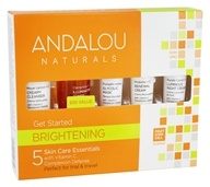 Andalou Naturals - Get Started Kit Brightening For Normal & Combination Skin - 5 Piece(s), from category: Personal Care