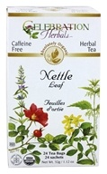 Celebration Herbals - Organic Caffeine Nettle Leaf Herbal Tea - 24 Tea Bags by Celebration Herbals