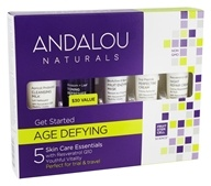 Image of Andalou Naturals - Get Started Kit Age Defying For Dry & Sensitive Skin - 5 Piece(s)