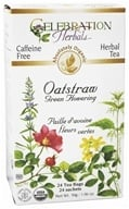 Celebration Herbals - Organic Caffeine Free Oatstraw Green Flowering Herbal Tea - 24 Tea Bags (628240201478)
