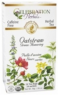 Image of Celebration Herbals - Organic Caffeine Free Oatstraw Green Flowering Herbal Tea - 24 Tea Bags