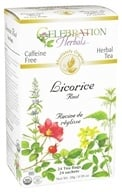 Celebration Herbals - Organic Caffeine Free Licorice Root Herbal Tea - 24 Tea Bags by Celebration Herbals