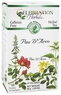 Celebration Herbals - Ethically Wildcrafted Caffeine Free Pau D'Arco Herbal Tea - 24 Tea Bags by Celebration Herbals