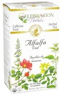 Celebration Herbals - Organic Caffeine Free Alfalfa Leaf Herbal Tea - 24 Tea Bags (628240201010)