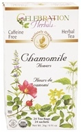 Celebration Herbals - Organic Caffeine Free Chamomile Flowers Herbal Tea - 24 Tea Bags (628240201171)