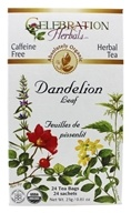 Celebration Herbals - Organic Caffeine Free Dandelion Leaf Herbal Tea - 24 Tea Bags by Celebration Herbals