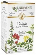 Celebration Herbals - Organic Caffeine Free Catnip Leaf & Blossom Herbal Tea - 24 Tea Bags by Celebration Herbals