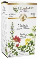 Celebration Herbals - Organic Caffeine Free Catnip Leaf & Blossom Herbal Tea - 24 Tea Bags (628240201157)