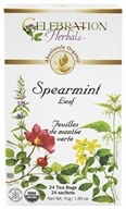 Celebration Herbals - Organic Caffeine Free Spearmint Leaf Herbal Tea - 24 Tea Bags