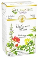 Celebration Herbals - Organic Caffeine Free Valerian Mint Herbal Tea - 24 Tea Bags