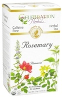 Celebration Herbals - Organic Caffeine Free Rosemary Herbal Tea - 24 Tea Bags by Celebration Herbals