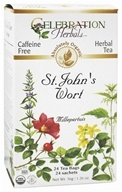 Celebration Herbals - Organic Caffeine Free St. John's Wort Herbal Tea - 24 Tea Bags by Celebration Herbals