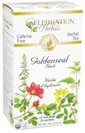 Celebration Herbals - Organic Caffeine Free Goldenseal Herb Herbal Tea - 24 Tea Bags by Celebration Herbals