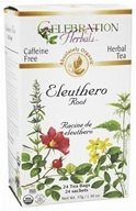 Celebration Herbals - Organic Caffeine Free Eleuthero Root Herbal Tea - 24 Tea Bags (628240251817)