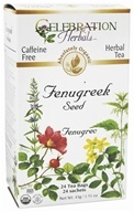 Celebration Herbals - Organic Caffeine Free Fenugreek Seed Herbal Tea - 24 Tea Bags (628240201379)