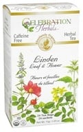 Celebration Herbals - Organic Caffeine Free Linden Leaf & Flower Herbal Tea - 24 Tea Bags - $7
