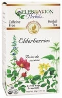 Celebration Herbals - Organic Caffeine Free Elderberries Herbal Tea - 24 Tea Bags (628240201355)