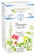 Celebration Herbals - Pure Quality Caffeine Free Papaya Peppermint Herbal Tea - 24 Tea Bags
