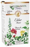 Image of Celebration Herbals - Organic Caffeine Free Elder Flower Herbal Tea - 24 Tea Bags