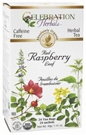 Image of Celebration Herbals - Organic Caffeine Free Red Raspberry Leaf Herbal Tea - 24 Tea Bags