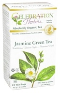 Celebration Herbals - Organic Jasmine Green Tea - 24 Tea Bags (628240204400)
