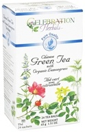 Celebration Herbals - Pure Quality Chinese Green Tea with Organic Lemongrass - 24 Tea Bags (628240204776)