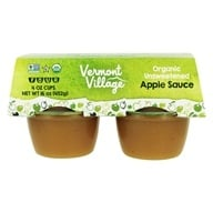 Vermont Village - Organic Applesauce Unsweetened - 4 x 4 oz. Cups