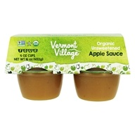 Vermont Village - Organic Applesauce Unsweetened - 4 x 4 oz. Cups by Vermont Village
