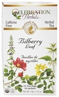 Celebration Herbals - Organic Caffeine Free Bilberry Leaf Herbal Tea - 24 Tea Bags