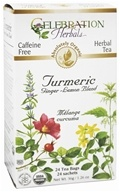Celebration Herbals - Organic Caffeine Free Turmeric Ginger-Lemon Blend Herbal Tea - 24 Tea Bags by Celebration Herbals