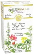 Celebration Herbals - Organic Caffeine Free South-African Red Tea with Lemongrass Herbal Tea - 24 Tea Bags