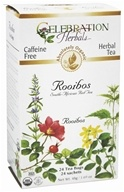Celebration Herbals - Organic Caffeine Free Roobios South-African Red Tea Herbal Tea - 24 Tea Bags by Celebration Herbals