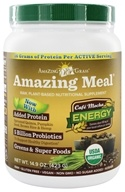 Image of Amazing Grass - Amazing Meal Powder 15 Servings Cafe Mocha - 14.1 oz. LUCKY PRICE