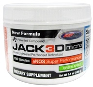 USP Labs - Jack3d Micro Green Apple (5.1 oz.) - 146 Grams, from category: Sports Nutrition