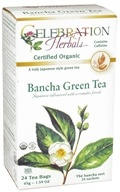 Celebration Herbals - Organic Caffeine Free Bancha Green Tea - 24 Tea Bags by Celebration Herbals