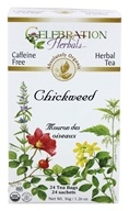 Celebration Herbals - Organic Caffeine Free Chickweed Herbal Tea - 24 Tea Bags (628240201218)