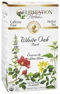 Celebration Herbals - Organic Caffeine Free White Oak Bark Herbal Tea - 24 Tea Bags by Celebration Herbals