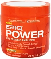 EPIQ - Power Pre-Training Amplifier Orange 40 Servings - 280 Grams, from category: Sports Nutrition