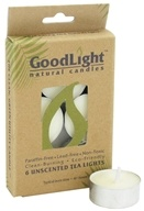 GoodLight Natural Candles - Tea Lights Unscented - 6 Count