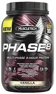 Muscletech Products - Phase8 Performance Series Multi-Phase 8-Hour Protein Vanilla Bonus Size - 2.2 lbs.