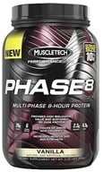 Muscletech Products - Phase8 Performance Series Multi-Phase 8-Hour Protein Vanilla Bonus Size - 2.2 lbs. by Muscletech Products