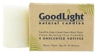 GoodLight Natural Candles - Votives Unscented - 4 Count, from category: Aromatherapy